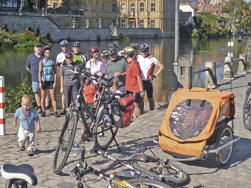 Urban bike tours in Bamberg can be fun for the whole family.