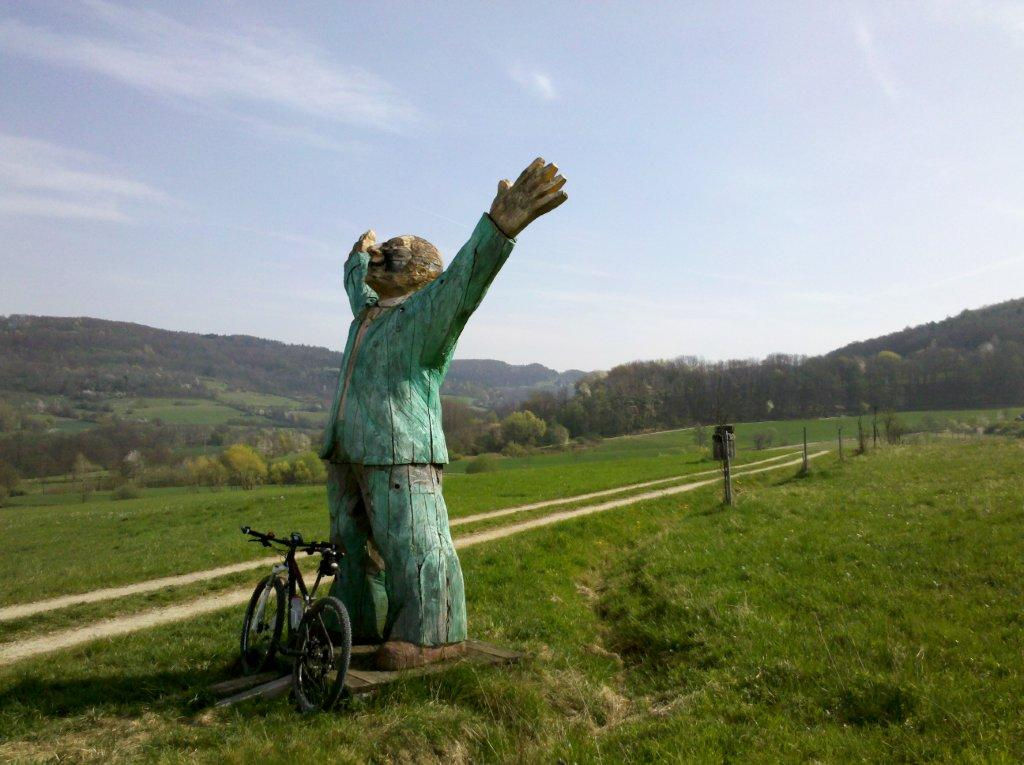 "The Sculpture Trail in ""Franconian Tuscany"" on the 13 breweries route. The perfect combination of beer and art."
