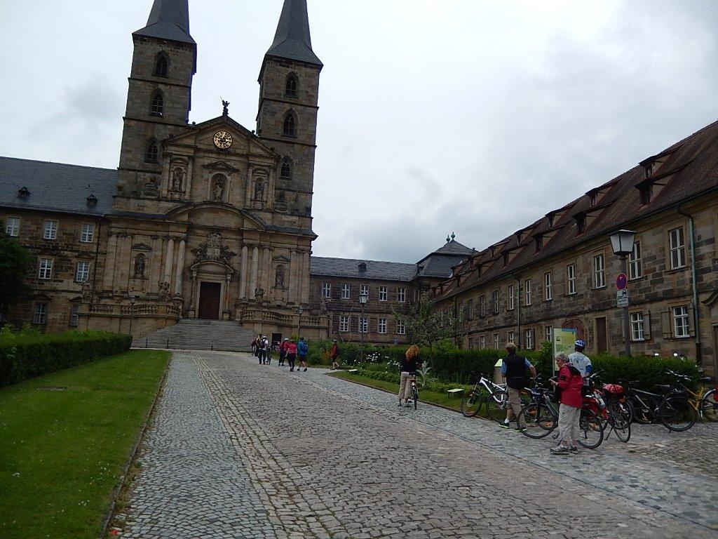 1000 years old and still an imposing sight from afar: St. Michaels Monastery in Bamberg.